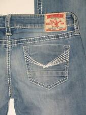 TRUE RELIGION Women's *JOEY* Boot Cut DISTRESSED Thick Stitched 28 x 30 Jeans
