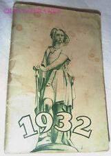 CALENDRIER DU SOLDAT FRANÇAIS 1932