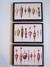Fish Baits Wall Decor Plaques old antique vintage fishing bobbers men's signs