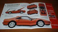 ★1986 FERRARI 328 GTS SPEC SHEET BROCHURE POSTER PRINT PHOTO INFO 86 85 87 89 88