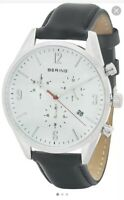 BERING Time Men's Slim Watch 10542-404 42MM  Case Classic Collection Excellent !