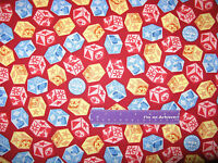 Baby Ringling Brothers Circus Building Blocks Red Cotton Fabric BY THE HALF YARD