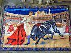 SALE @ Vintage Spanish Bull Fighting Matador Coliseum Wall Art Tapestry 💜sj15b1