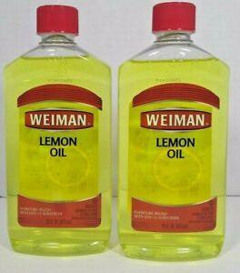 Lot of 2  Weiman Lemon Oil ~ Furniture Polish with UVX-15 Sunscreen ~ 16 Oz