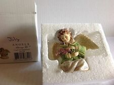 "Betty Singer ANGELS AMONG US ""Angel of Contentment"" July Figurine NIB BS1208"