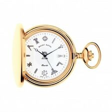 Full Hunter G409 PQ Masonic Pocket Watch