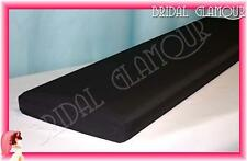 BLACK 1.4m x 36m Organza Bolt Large Roll Shimmering Wedding Fabric Drape Tulle
