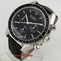 40mm bliger black dial week indicator multifunction automatic mens watch P124B