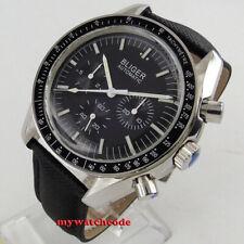 40mm bliger black dial week indicator multifunction automatic mens watch P124B