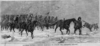 GENERAL CUSTER ATTACK ON CHEYENNE VILLAGE ANTIQUE HORSE