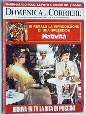 DOMENICA DEL CORRIERE    26 dicembre  1972   N. 52 // PUCCINI