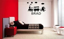 CHILDS NAME & TRAIN DECAL WALL ART VINYL DECOR STICKER ROOM  CHILDREN KIDS
