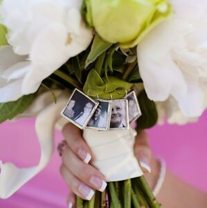 Glass photo wedding bouquet charm custom made for you Personalized Memorial NEW