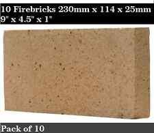 "1"" inch Clay Fire bricks cooker pizza 10 Bricks"