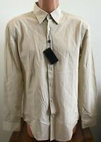 Hugo Boss Mens Rodney_44F Long Sleeve Button Down Shirt Brown Size Large L
