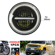 "1PCS 7"" Round Halo Angel Eyes Aperture LED Headlight for Jeep Motorcycle 12V/24V"