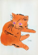 Andy Warhol 25 cats SAM ginger pussy book Canvas wall pop art  20 x 30 Inch A1