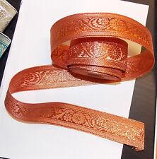 40mm cuivre bronze jacquard brodé ruban applique motif parage decor