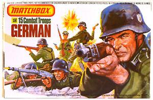 1983 Original Matchbox # P-6001 WWII German Infantry - 15 54mm figures - mib