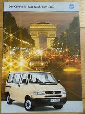 VW Caravelle Taxi brochure Sep 1998 German text
