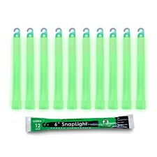 Box of 10 (diez) 12 Hour 15.2cm SnapLight (15cm) Verde Barras Con Luz (Cyalume