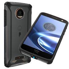 Para Motorola Moto Z Force Case de TPU macio à prova de choque Transparente Cover-Affinity Preto