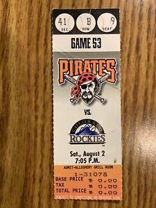 1997 Todd Helton MLB DEBUT Season Ticket Stub 8/2/97 Colorado Rockies First HR