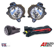 VW POLO 9N3 06-09 FOG LIGHTS LAMPS PAIR SET + WIRING HARNESS & HEADLIGHT SWITCH