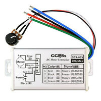 12V 24V Max 20A PWM DC Motor Stepless Variable Speed Fashion Controller .