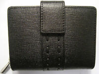 Genuine Leather Ladies Purse Wallet Compact Size Boxed Top Brand Graffiti Black