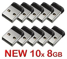 10x SanDisk Cruzer Fit 8GB USB Flash Drive 10 x 8 GB = 80GB SDCZ33-008G NEW