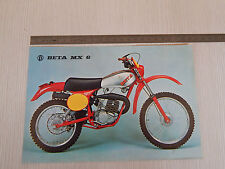 DEPLIANT ORIGINALE BETA MX 6 MX6 50 CROSS MOTOCROSS BROCHURE