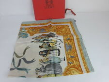 AUTH VINTAGE LOEWE SILK SCARF/SHAWLWITH BOX MADE IN  ITALY