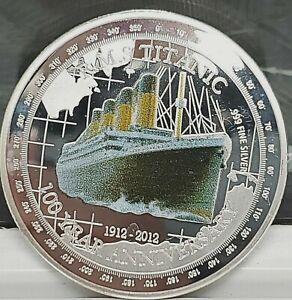 Titanic Silver Commemorative Coin Compass Atlantic Ocean 100th Anniversary 1912