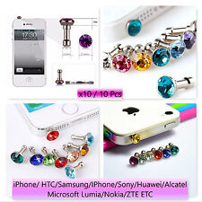x10 Bling Diamond Anti Dust Cap Earphone 3.5mm Random Jack Plug iPhone