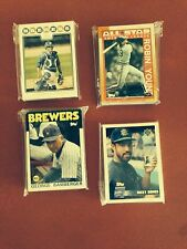 1986 1990 1996 2008 Topps Milwaukee Brewers 4 Team Sets Robin Yount