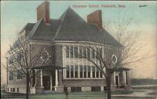 Falmouth Cape Cod MA Grammar School c1910 Postcard