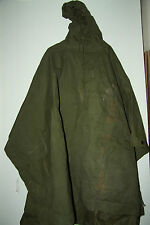 BRITISH ARMY ISSUE OLIVE GREEN WATERPROOF NYLON PONCHO GRADE 2