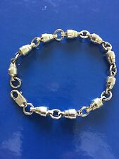 NEW STERLING SILVER PURE 925 NAUTICAL MARINE SWIVEL BRACELET  FREE SHIPPING