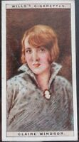 Single No.25 CLAIRE WINDSOR Cinema Stars 1st Series - W.D.& H.D. Wills 1928