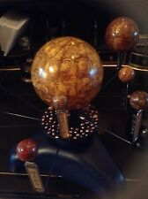STEAMPUNK PLANETARIUM SOLAR SYSTEM MODEL ASTRONOMY SPACE ORRERY HAND PAINTED