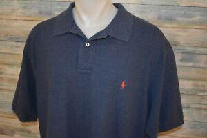 POLO RALPH LAUREN 3XLT TALL Men's S/S Pique Mesh Cotton Shirt Blue