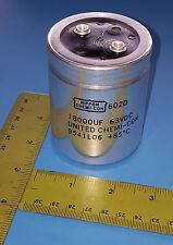 Capacitors, 18000UF, 63VDC, Aluminum Electrolytic, Screw, 602D183F063CB5A (1pc)
