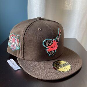New Era San Diego Padres size 7 1/8 Mocha Brown Pink Travis Not Hat Club Friar