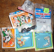 Mixed lot of doll house miniatures animals bunnies ducks chicken fowl rooster