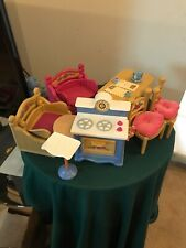 1998 Fisher Price Vintage Briarberry Bear Doll House Furnitire Bundle Lot