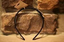 NEW RIVIERA HEADBAND BLACK SILK WITH GOLD CHAIN ACCENT  VERY CUTE!