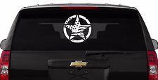 "F105 12"" Distressed Star W/American Flag 4X4 Vinyl Decal Car Truck Laptop"