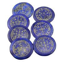 7pieces Natural Crystal Stone Polished Engraved Blue Lapis Lazuli Gemstone