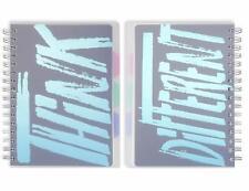 Miliko Transparent Softcover A5 Wirebound/Spiral 2 Notebooks/Journals Set